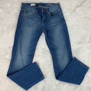 Gap women's 26S real straight blue jeans